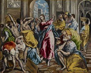 El Greco The Purification of the Temple WGA10541